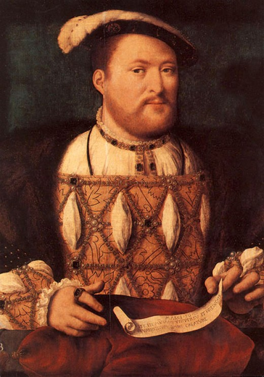 A portrait of King Henry VIII - this is what the King may have looked like during his marriage to Anne.