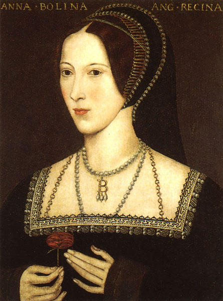"A portrait of Anne Boleyn that is most likely not contemporary. The Latin inscription translates as ""Anne Boleyn Queen of England""."