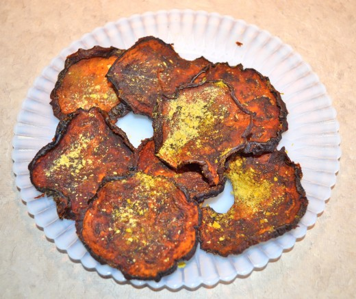 These were baked a little too long and are dark but still yummy.