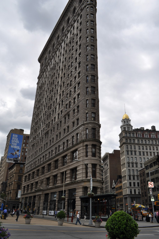 The Flatiron Building in New York City - don't travel by subway too much, or you'll miss some iconic sights