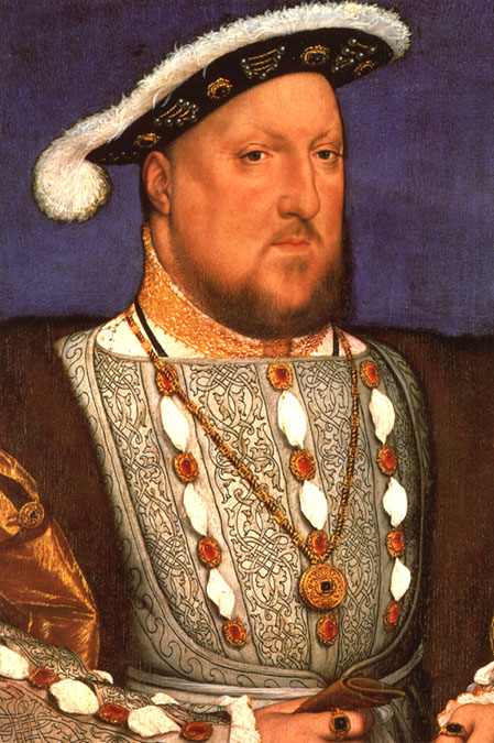 A portrait of King Henry VIII made during his marriage to Jane Seymour.