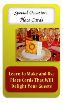 Place Cards Craft For Special Meals