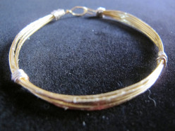 How To Make Jewelry: Make A Mixed Metal Wire Wrapped Bangle Bracelet