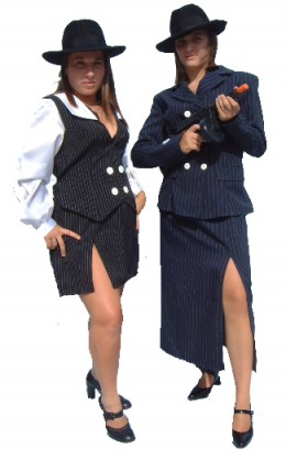 Ladies Gangster Costumes.