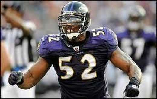 Ray Lewis plays for the Baltimore Ravens and is one of the best defensive players to ever grace a  football field. A warrior on the field.