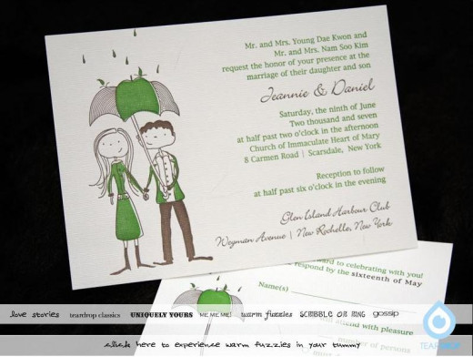 Graphics add personality to an informal invitation.