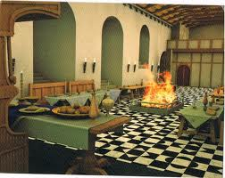 Reconstruction of the Great Hall where the lord and his noble guests would celebrate successes. At religious festivals - Easter and Christmas - commoners would be invited to share the bounty