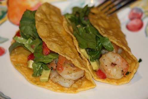 Shrimp Tacos- Ready in about 30 minutes!