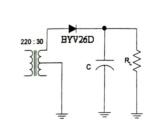 Full-wave center tapped rectifier set-up