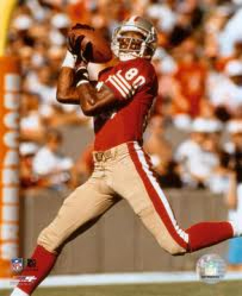 San Francisco 49ers Legend Jerry Rice is universally regarded as the best wide receiver in history.