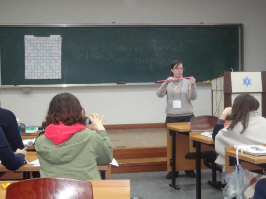 Me, teaching teachers at the 2012 Seoul KOTESOL Conference.