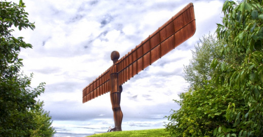 The Angel of the North at Gateshead.