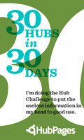 I'm taking the 30 hubs in 30 days challenge