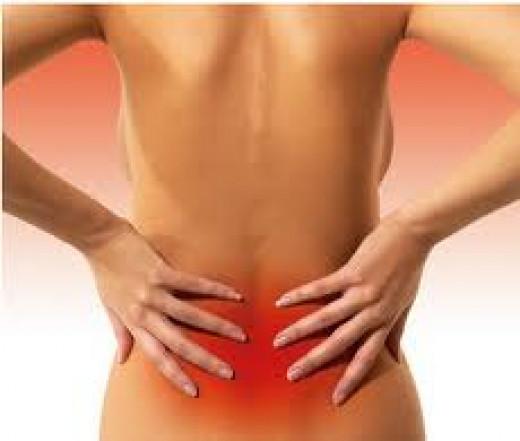 Woman lower back pain