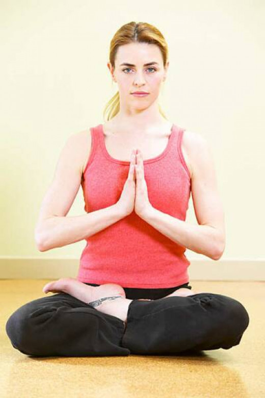 Woman doing meditation yoga