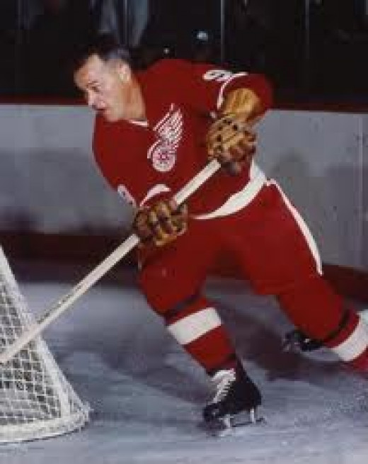 Even at an advanced age Gordie Howe was an outstanding Hockey player. He was a fan favorite because he was outspoken and played with a chip on his shoulder and he always show plenty of heart.
