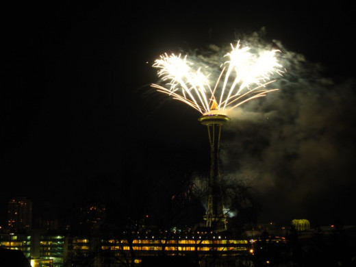 New Year's Eve at the Space Needle.