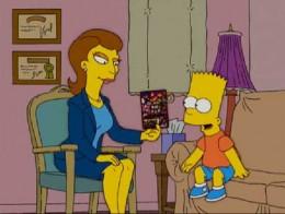 Bart Simpson missing school