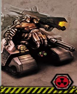 Juggernaut, czołg Molocha, w wersji z Neuroshimy: Hex.