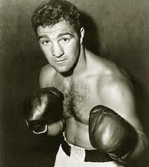 Rocky Marciano retired undefeated with a record of 49-0 with 43 knockouts. Among his best wins were knockous of Ezzard Charles, Joe Louis, Archie Moore and Jersey Joe Walcott.
