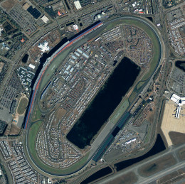 Daytona International Speedway.  Daytona Beach is considered by stock car enthusiasts as the birth-place of their sport.