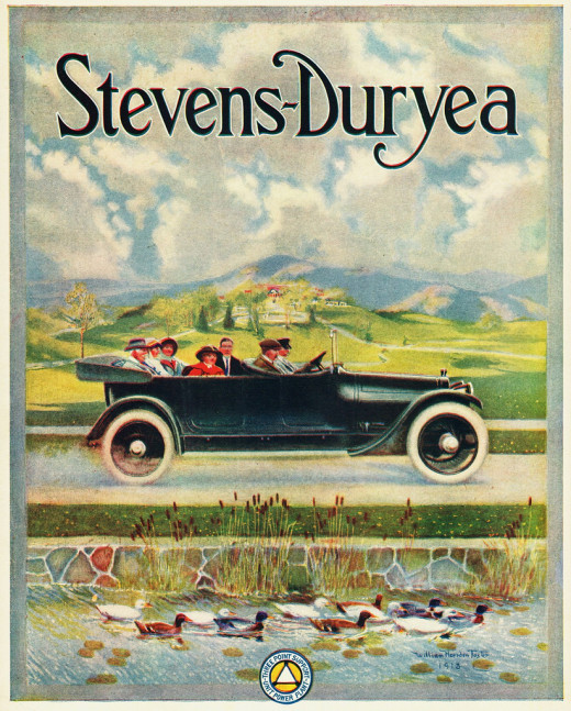 The 1914 Stevens-Duryea Touring Car was a high-priced limited production car from 1901 to 1927. It was a product of J. Frank Duryea, one of the early founders of the U.S. auto industry, and the J. Stevens Arms & Tool Co. of Massachusetts.
