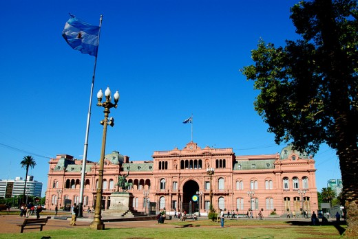The Casa Rosada, where all the important decisions were taken.