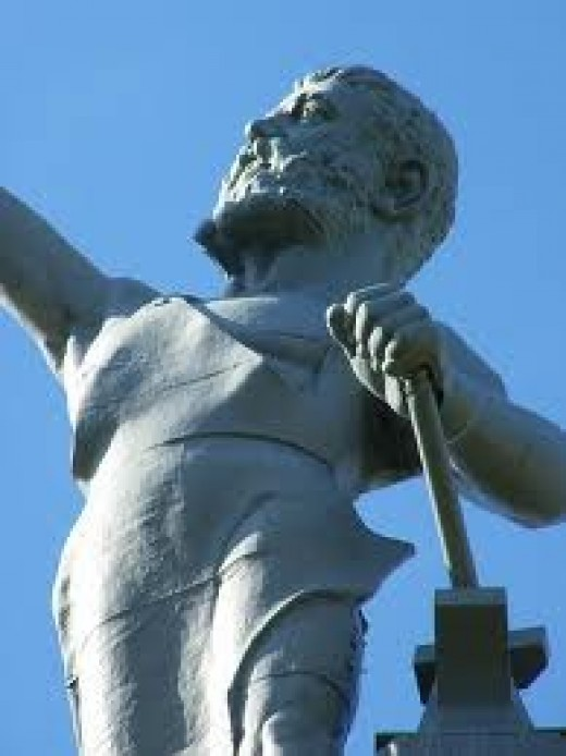 The Iron Made Vulcan Statue is at Vulcan Park in Alabama. It is a great historic site to visit if your ever in Alabama.