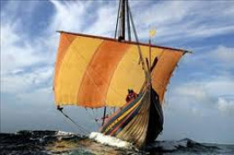A Danish trading ship, a knarr, the crews were a source of wealth and intelligence on far-flung settlements between Ireland and the eastern river networks