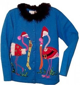 Nothing says old-fashioned Christmas quite like flamingos