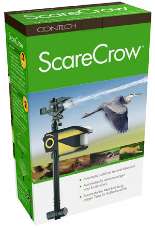 Meant to scare pests, it also works on nosy neighbors, stray dogs and unsolicited missionaries.
