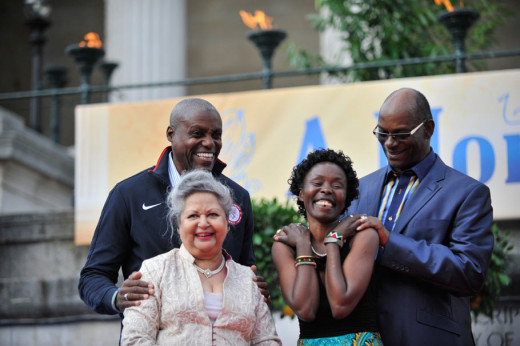 Bob Beamon, Sudahota carl lewis, Tegla La Roupe and Baroness Flather