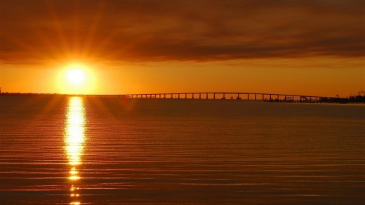 Bridges Are One Of The Best Way To Enjoy Florida Key Sun Sets.