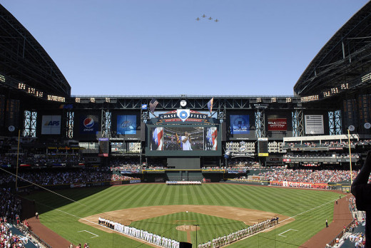 Arizona Diamondbacks season opening game in 2010