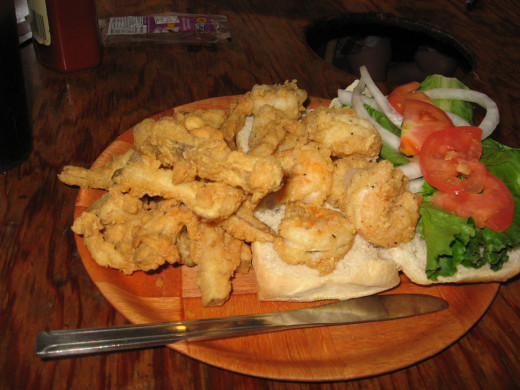 Seafood restaurants are plentiful in Fernandina Beach.