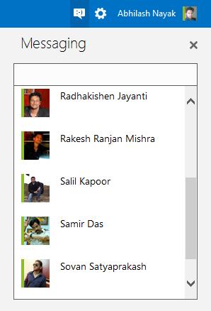 Messenger  Online list