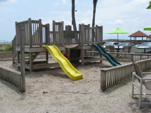 Sliders - beach playground