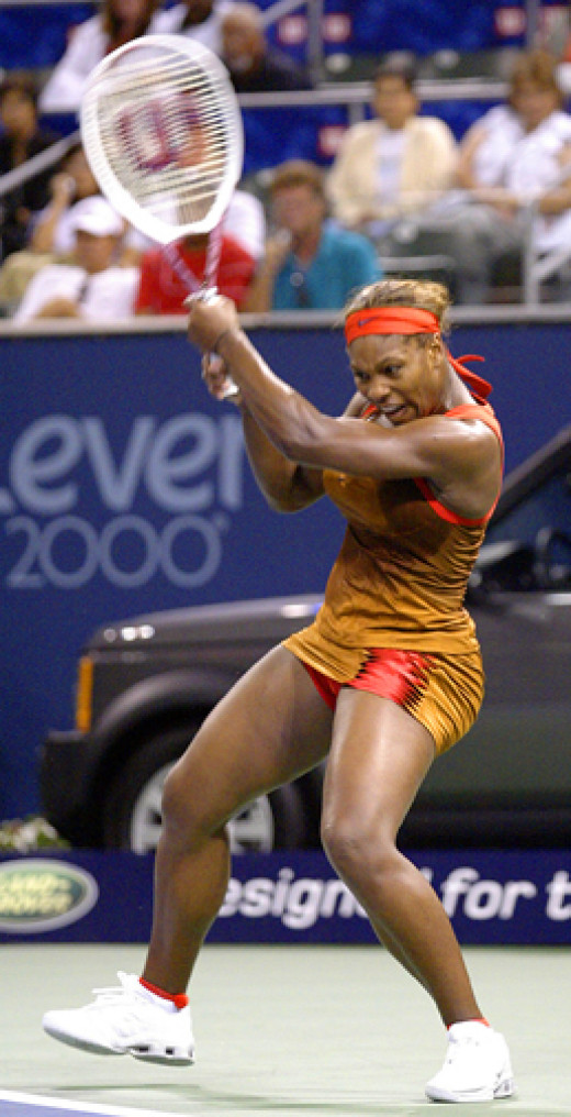 Serena Williams playing the US Open