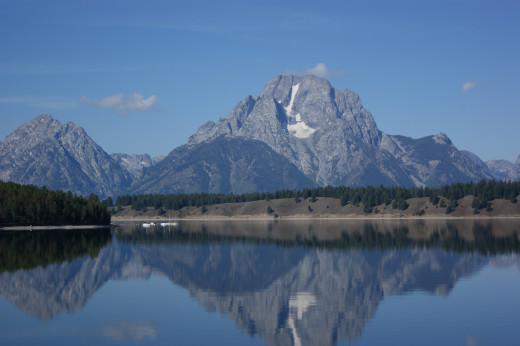 A Grand view in Yellowstone-The Tetons