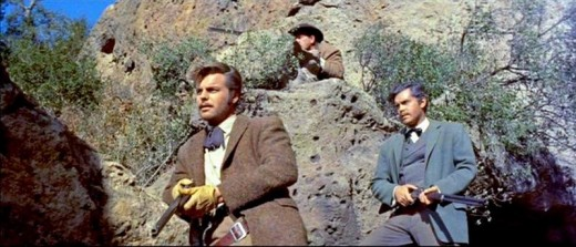 Robert Wagner and Jeffrey Hunter in The True Story of Jesse James (1957)