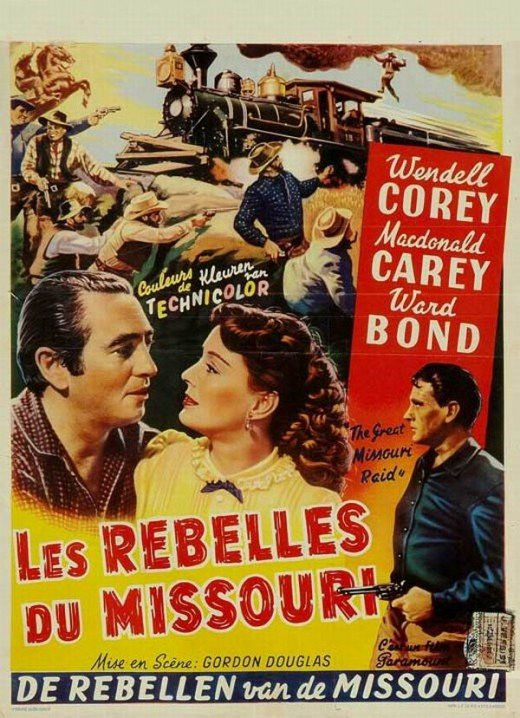 The Great Missouri Raid (1951) Belgian poster