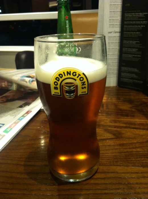 Boddington's - world famous in Holiday Inn's!