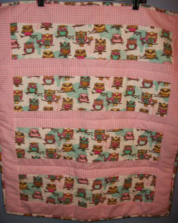 One of the first strip quilts I made for Project Linus.