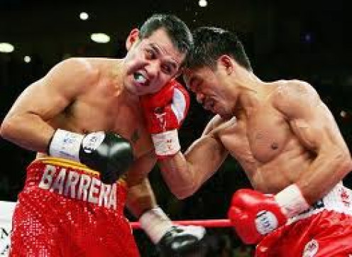 Marco Antonio Barrera and Manny Pacquiao fought twice with the Pacman winning both bouts.