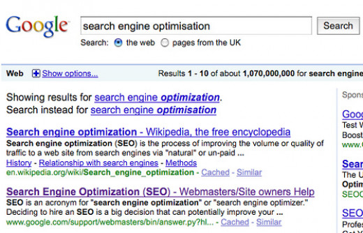 Search Engine Optimization is about improving your websites visibility and ranking on Search Engines such as Google