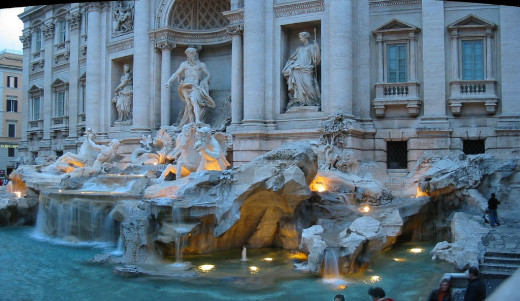 The Trevi Fountain in Rome - make a wish!
