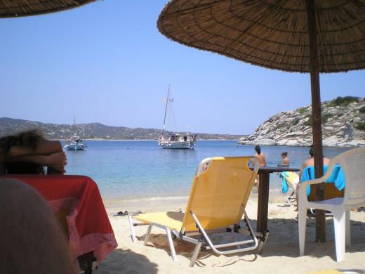 On a beach in Paralia