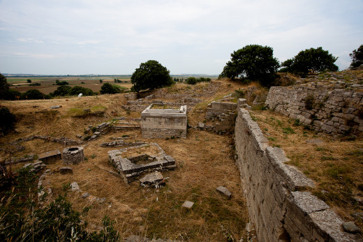 The ancient ruins in Troy