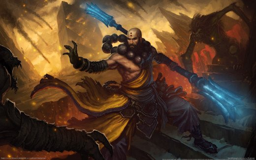 The Monk in Diablo 3 Conceptual Art