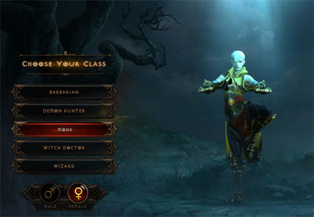 Diablo 3 Monk Character Creation